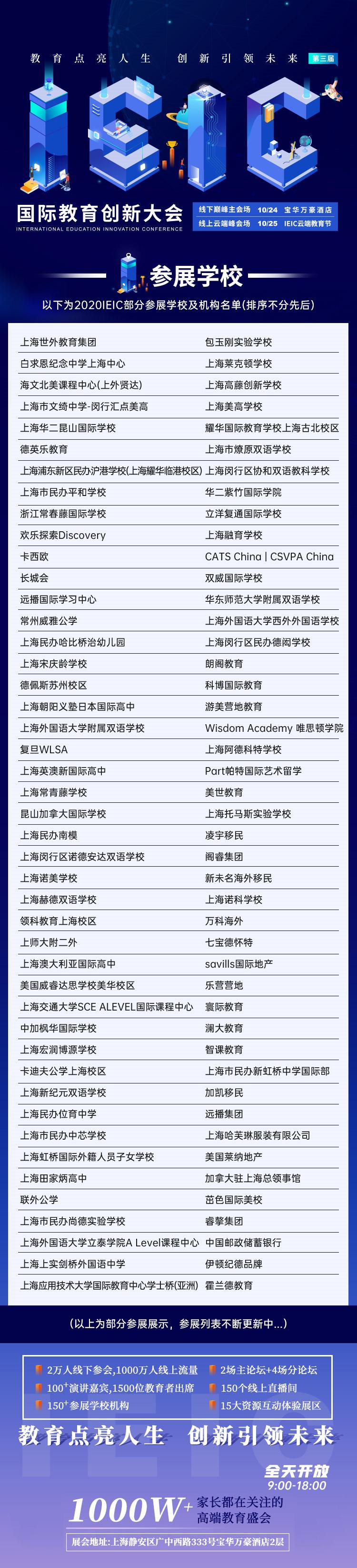 IEIC国际教育创新大会参展学校