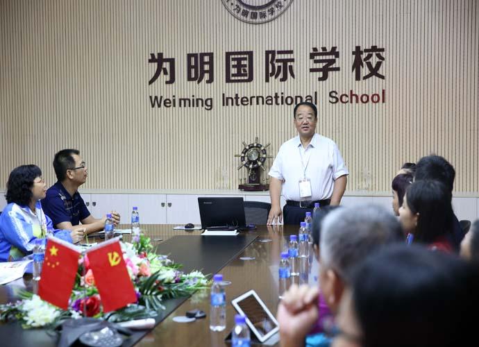 广东省佛山顺德大良顺峰初级中学领导和老师莅临我校参观指导