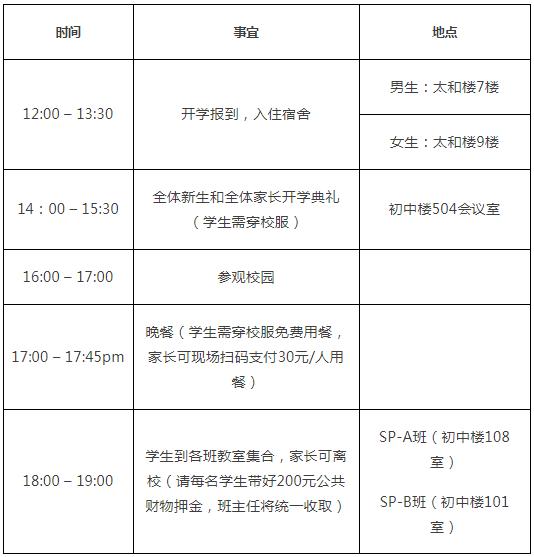 2019级上海光华学院剑桥国际中心3.5年制春季班新生开学报到安排