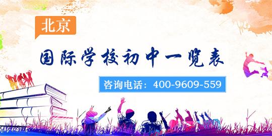北京国际学校初中一览表