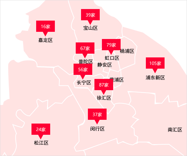 上海少儿英语培训机构校区分布图